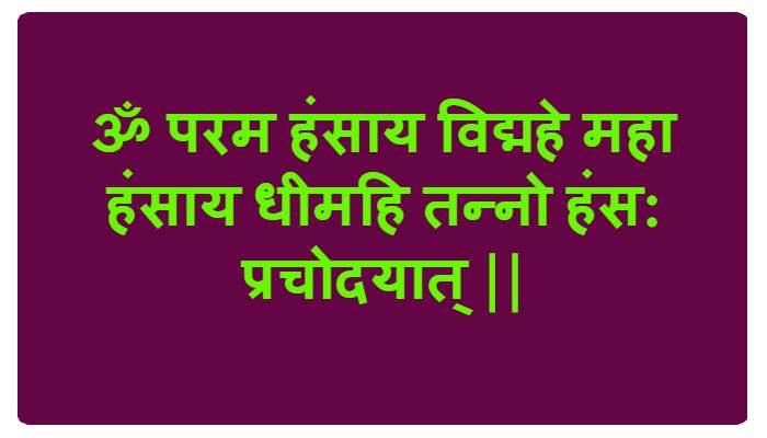 Hansa Gayatri Mantra
